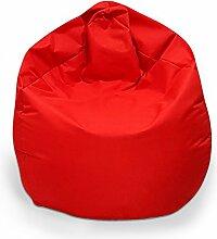 Sitzsack XXL Sitzbag mit Füllung Farbe Rot BeanBag Sitzkissen Bodenkissen Kissen Sessel