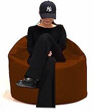 Sitzsack XXXL Sitzbag mit Füllung Farbe Braun BeanBag Sitzkissen Bodenkissen Kissen Sessel