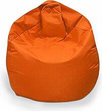 Sitzsack XXXL Sitzbag mit Füllung Farbe Orange BeanBag Sitzkissen Bodenkissen Kissen Sessel
