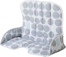 Sitzverkleinerer aus Stoff, Kreise grau
