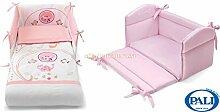 Sitzverkleinerer Wiege Pali Sweeties pink + Set Textil Pali Ingwer Pink