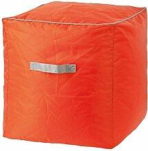 Sitzwürfel, 40 cm, Sitzpouf aus Polyester, wasserdicht, orange