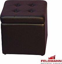 Sitzwürfel 5729 Hocker mit Stauraum - Farbe wählbar (schwarz Kunstleder)