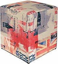 Sitzwürfel bedruckt GB Flagge hell 35 cm x 35 cm x 42 cm