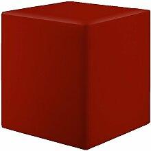Sitzwürfel Bordeaux Maße: 43 cm x 43 cm x 48 cm