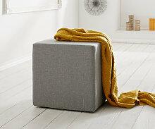Sitzwürfel Dado 45x45 cm Grau Hocker