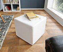 Sitzwürfel Dado 45x45 cm Weiss klassischer