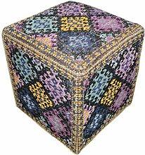 Sitzwürfel Hocker Pouf Bunt Azteken Design