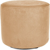 Sitzwürfel Hocker rund mit Velourbezug Cappuciono beige - Höhe 38cm Durchmesser circa 43cm, gute Verarbeitung