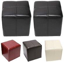 Sitzwürfel Hocker Sitzhocker Onex, Leder +