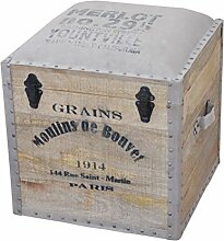 Sitzwürfel Holz Lederwürfel Sitzhocker Leder Holz Truhe Kiste Sitzkiste