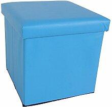 Sitzwuerfel mit Stauraum 36x36cm Blau