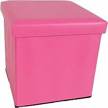 Sitzwuerfel mit Stauraum 36x36cm Pink