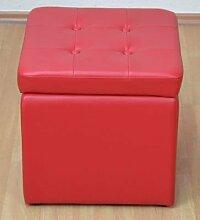 Sitzwürfel mit Stauraum Farbe: Ro