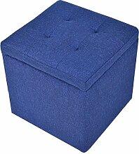 Sitzwürfel Sitzhocker Ottomane Aufbewahrungsbox Betthocker Bankhocker Blau 40*40*40CM