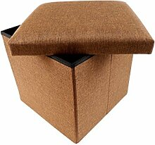 Sitzwürfel Sitzhocker Stauraum Hocker Faltbar Aufbewahrung (40 x 40 x 36 cm Braun)