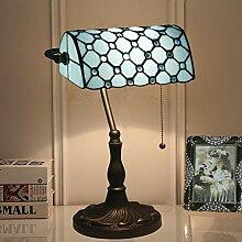 Siunwdiy Banker Schreibtischlampe Tiffany