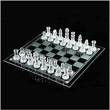 Siunwdiy Glasschachspiel Set, mattiertes poliertes
