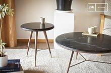 Sivärt Sofa Beistelltisch schwarzes Marmor