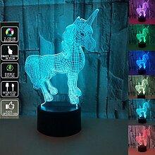 SIWEN Kind Nachtlicht, 3D-Touch-Lampe, 7 Farbe