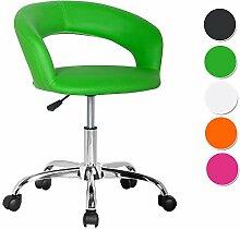 SixBros. Design Rollhocker Arbeitshocker Hocker Bürostuhl Grün - M-95098/2138