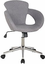 SixBros. Design Rollhocker Arbeitshocker Hocker Bürostuhl Grau Stoffbezug - M-65335-3/2335