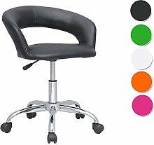 SixBros. Design Rollhocker Arbeitshocker Hocker Bürostuhl Schwarz- M-95098/721