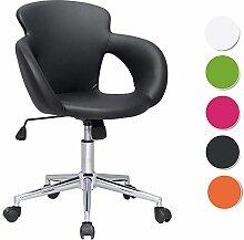 SixBros. Design Rollhocker Arbeitshocker Hocker Bürostuhl Schwarz M-65335-1/724