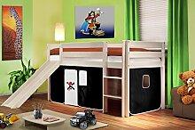SixBros. Hochbett Kinderbett Spielbett mit Rutsche