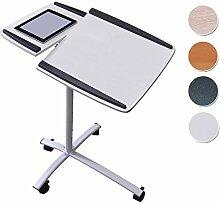 SixBros. Laptoptisch Projektionstisch Weiß - B-001N/2078 - MDF Weiß - Gestell Metall Weiß