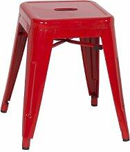 SixBros. Metallhocker Sitzhocker Hocker - Rot - M-94115-18/1473