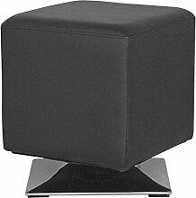 SixBros. Sitzwürfel Sitzhocker Hocker Gepolstert Schwarz - M-61352/2144