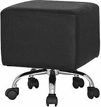 SixBros. Sitzwürfel Sitzhocker Hocker Gepolstert Schwarz - M-65352/2148