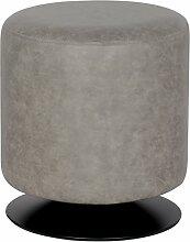SixBros. Sitzwürfel Sitzhocker Hocker Gepolstert Vintage Grau - M-60351/4051