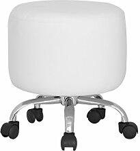 SixBros. Sitzwürfel Sitzhocker Hocker Gepolstert Weiß - M-65351/2147