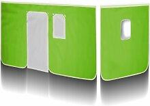 SixBros. Vorhang Grün/Weiß für Hochbett -