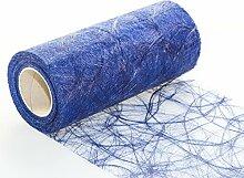 Sizoweb 20cm breit 5m oder 20m lang Tischläufer Tischband in unterschiedlichen Farben zur Dekoration wie Grillen, Sommer, Ostern, Weihnachten oder Hochzeiten manuell abgelängt durch Protinam (20m, dunkel-blau 7570)