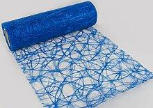 Sizoweb 30cm breit 5m oder 20m lang Tischläufer Tischband in unterschiedlichen Farben zur Dekoration wie Grillen, Sommer, Ostern, Weihnachten oder Hochzeiten manuell abgelängt durch Protinam (20m, blau 7340)