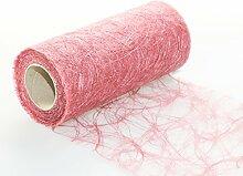 Sizoweb Tischband alt-rosa 20 cm x 25 Meter auf Rolle - Dekoration für Kommunion, Taufe, Geburtstag, Ostern, Weihnachten