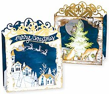 Sizzix 663184 Thinlits Stanzformen-Set Holiday