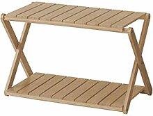 SJIAXJ Festes Holz-einfaches Schuhregal,