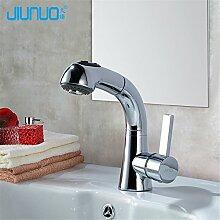 SJIN Multifunktionale Waschbecken Mischbatterie mit Dusche heiß und kalt Messing Tabelle Waschbecken wasserhahn Drehen 360 Grad retro Wasserhahn