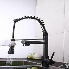 SJIN Volle Kupfer Küche ausziehbare Armatur Waschbecken Wasserhahn warmes und kaltes gemischt alte Hähne