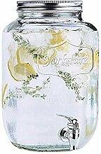 SJmeet Bowle Gefäß 8 Liter Einmachglas