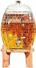 SJmeet Bowle Gefäß Honeycomb Glasflaschenfamilie