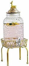 SJmeet Bowle Gefäß Wasserspender Glas Vintage