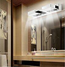 SJMM 6W LED-Spiegel im Bad Licht 32cm innen Edelstahl und Acryl Badezimmer Lampe AC 110V~220V Wandleuchte ROHS/CE, Gelb(#JD-0173)