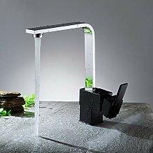 SJNSJN Wasserhahn Küche Schwarz mit 360°