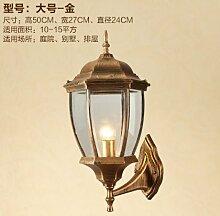 SJUN-American Vintage Garten Wasserdichte Lampe Wandleuchte, Balkon Schlafzimmer Gang Wandleuchte,F