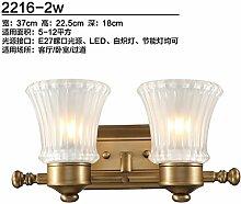 SJUN-amerikanische Lampe Schlafzimmer Wohnzimmer Flur Wandleuchte (Einzel) Wandleuchte Bügeleisen Retro Lampe,B
